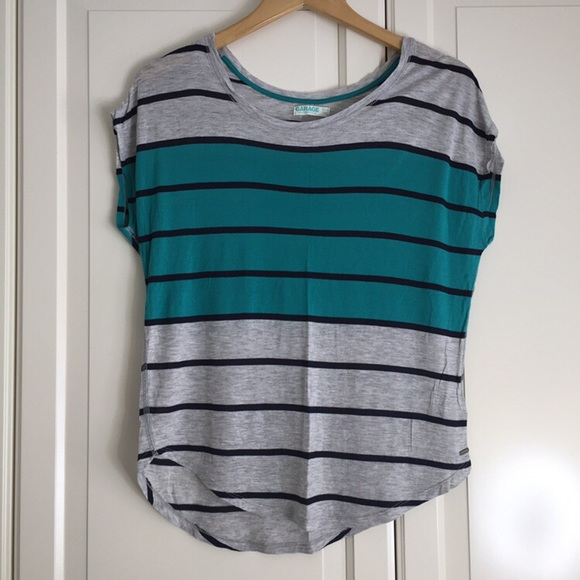Garage Two-Toned Striped Tee
